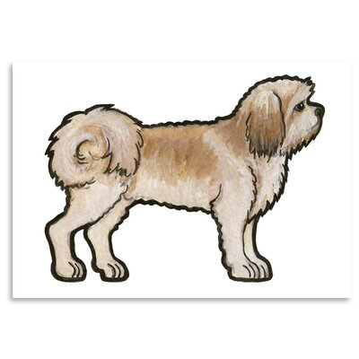 Americanflat 'Lhasa Apso' by Sally Pattrick Art Print
