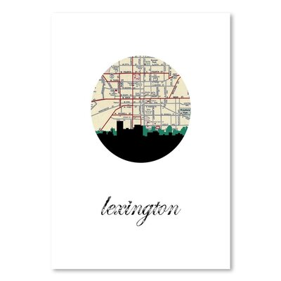 Americanflat 'Lexington Map Skyline' by PaperFinch Graphic Art