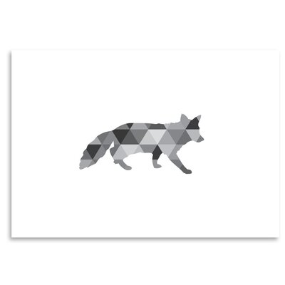 Americanflat 'Geometric Grey Fox Up To' by Melinda Wood Graphic Art