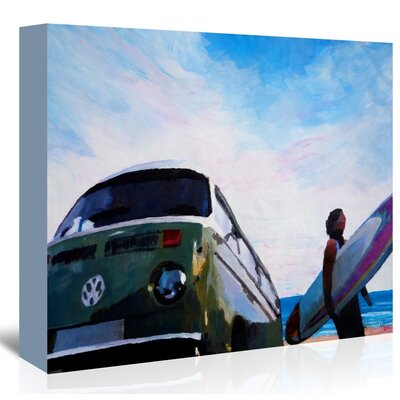 Americanflat The Green Surf Bus' by Markus Bleichner Art Print on Canvas