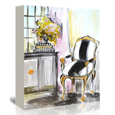 Americanflat La Chaise' by Cara Francis Art Print on Canvas