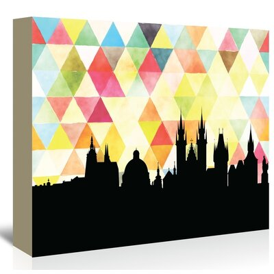 Americanflat 'Praha Triangle' by Paper Finch Graphic Art Wrapped on Canvas