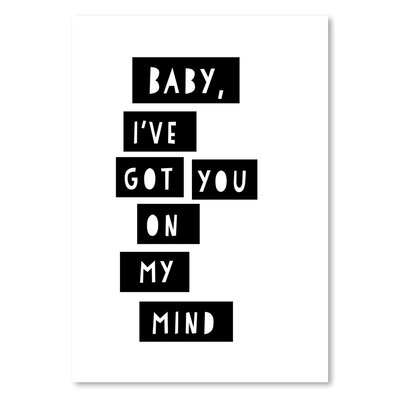 Americanflat 'On My Mind' by Ashlee Rae Typography