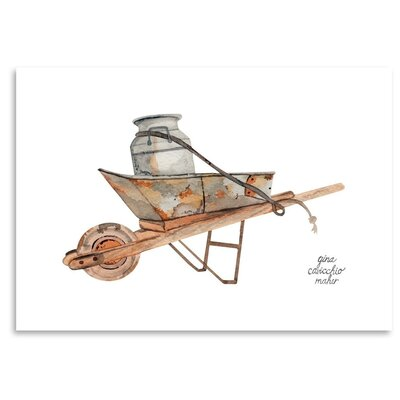 Americanflat 'Wheel Barrow' by Gina Maher Art Print