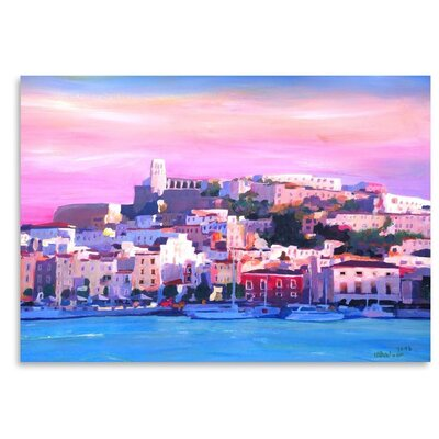 Americanflat 'Ibiza Old Town And Harbour Pearl Of The Mediterranean' by M Bleichner Art Print