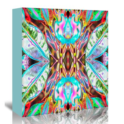 Americanflat 'Blue leaves' by Rose Anne Colavito Graphic Art Wrapped on Canvas