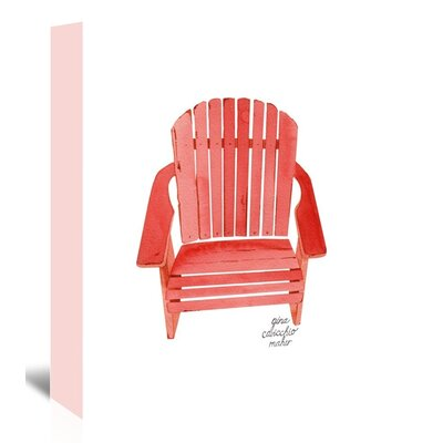 Americanflat 'Adirondack Chair' by Gina Maher Art Print Wrapped on Canvas