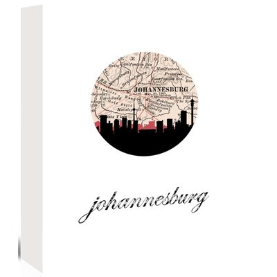 Americanflat 'Johannesburg Map Skyline' by PaperFinch Graphic Art Wrapped on Canvas