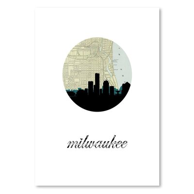 Americanflat 'Milwaukee Map Skyline' by PaperFinch Graphic Art