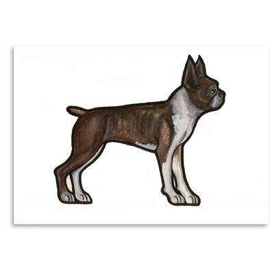 Americanflat 'Boston Terrier' by Sally Pattrick Art Print