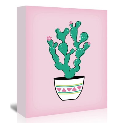 Americanflat Prickly Pear Cactus' by Ashlee Rae Graphic Art on Canvas
