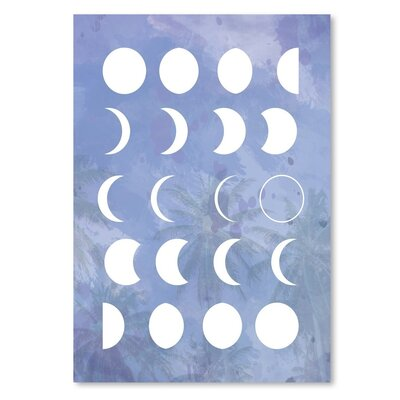 Americanflat 'Moonphases_Purple' by The Glass Mountain Graphic Art