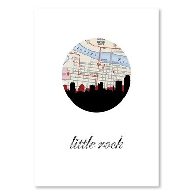 Americanflat 'Little Rock Map Skyline' by PaperFinch Graphic Art