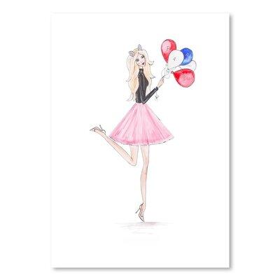 Americanflat 'Paris Ballons' by Alison B Art Print