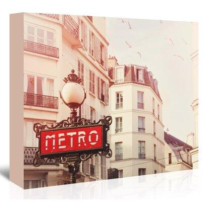 Americanflat Paris-Metro' by Mina Teslaru Photographic Print on Canvas