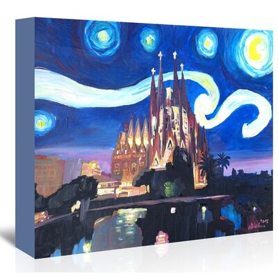 Americanflat 'Starry Night In Barcelona' by M Bleichner Art Print Wrapped on Canvas