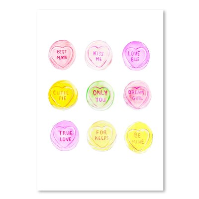 Americanflat 'Loveheart sweets' by Alison B Art Print