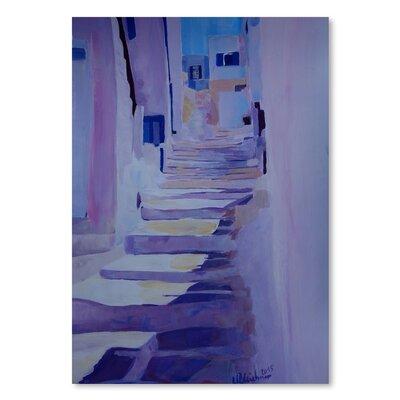 Americanflat 'Enchanting Mykonos Greek Islands Stairs' by M Bleichner Art Print