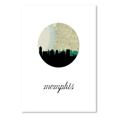 Americanflat 'Memphis Map Skyline' by PaperFinch Graphic Art