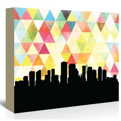 Americanflat 'New Orleans Triangle' by Paper Finch Graphic Art Wrapped on Canvas