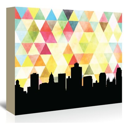 Americanflat 'Salt Lake City Triangle' by PaperFinch Graphic Art Wrapped on Canvas