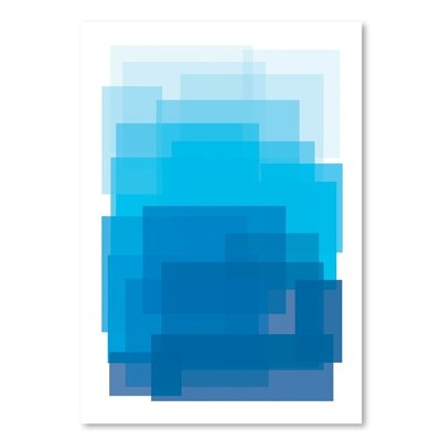 Americanflat 'Blue Ombre' by Ashlee Rae Graphic Art