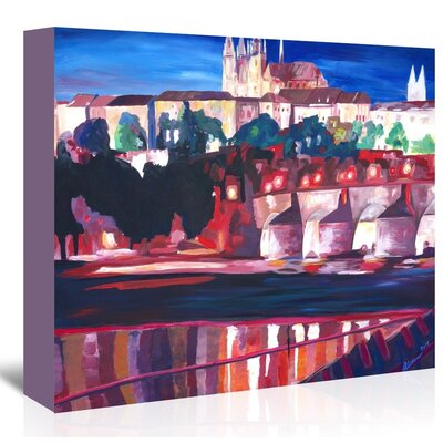 Americanflat 'Prague - Hradschin With Charles Bridge' by M Bleichner Art Print Wrapped on Canvas