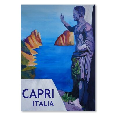 Americanflat Capri With Ancient Roman Empire Statue' by Markus Bleichner Art Print