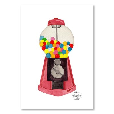 Americanflat 'Gumball Machine' by Gina Maher Art Print Wrapped on Canvas