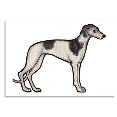 Americanflat 'Greyhound' by Sally Pattrick Art Print