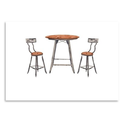 Americanflat 'Café Table' by Gina Maher Art Print