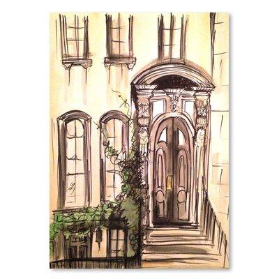 Americanflat 'Brownstone Entryway' by Cara Francis Art Print