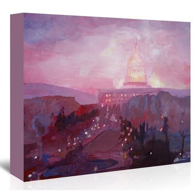 Americanflat 'Washington Capitol 3 Dusk' by M Bleichner Art Print Wrapped on Canvas