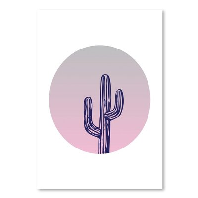 Americanflat 'Cactus Circle' by Ashlee Rae Graphic Art Wrapped on Canvas