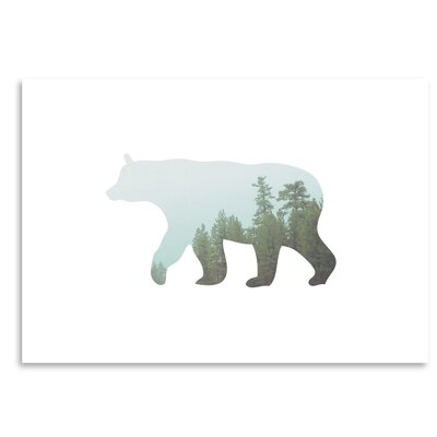 Americanflat 'Bear Trees Up To' by Melinda Wood Graphic Art