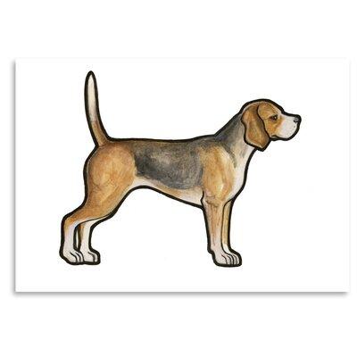 Americanflat 'Beagle' by Sally Pattrick Art Print