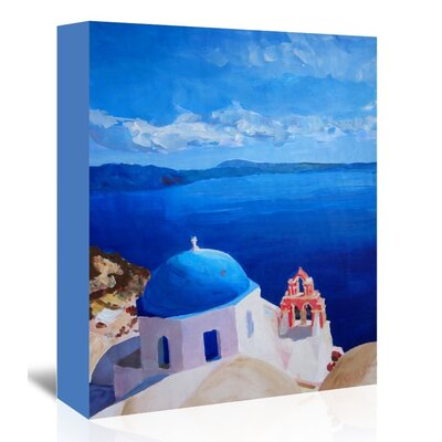 Americanflat 'Santorini Iii Oia2' by M Bleichner Art Print Wrapped on Canvas