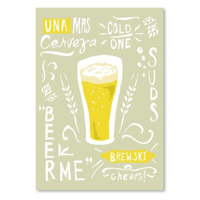 Americanflat 'Beertypography' by The Glass Mountain Graphic Art