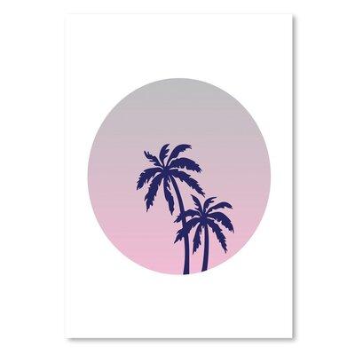 Americanflat 'Palm Tree Circle' by Ashlee Rae Graphic Art