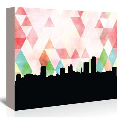 Americanflat 'Little Rock Triangle' by Paper Finch Graphic Art Wrapped on Canvas