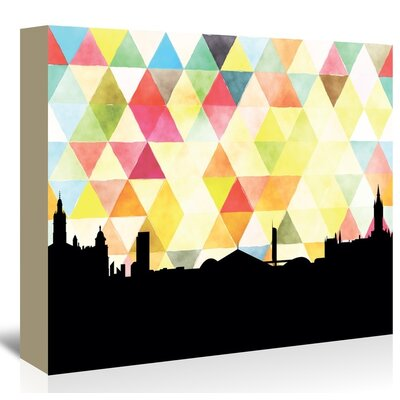 Americanflat Glasglow Triangle' by Paper Finch Graphic Art on Canvas