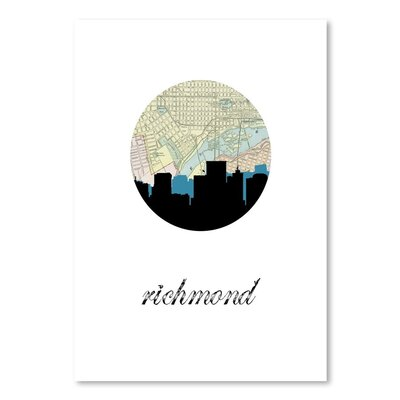 Americanflat 'Richmond Map Skyline' by PaperFinch Graphic Art
