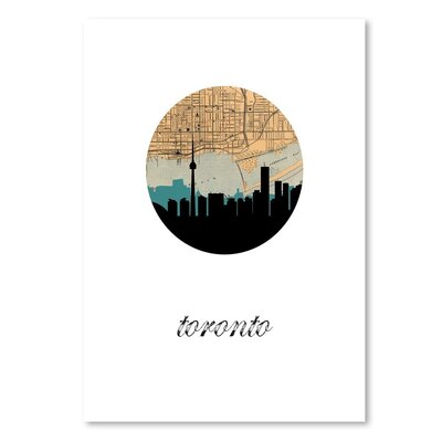 Americanflat 'Toronto Map Skyline' by PaperFinch Graphic Art