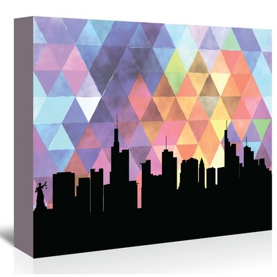 Americanflat 'Frankfurt_Triangle' by PaperFinch Graphic Art Wrapped on Canvas
