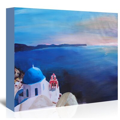 Americanflat 'Santorini V Oia' by M Bleichner Art Print Wrapped on Canvas