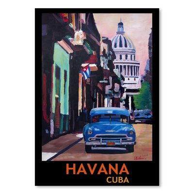 Americanflat 'Cuban Oldtimer Street Scene In Havanna Cuba With Buena Vista Feeling Poster 1' by M Bleichner Art Print