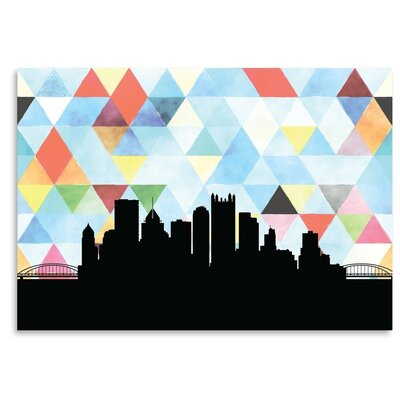 Americanflat Pittsburgh_Triangle' by PaperFinch Graphic Art