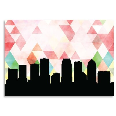 Americanflat 'Tampa_Triangle' by PaperFinch Graphic Art