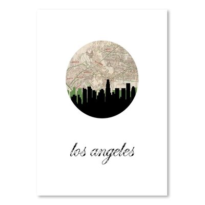Americanflat 'Los Angeles Map Skyline' by PaperFinch Graphic Art