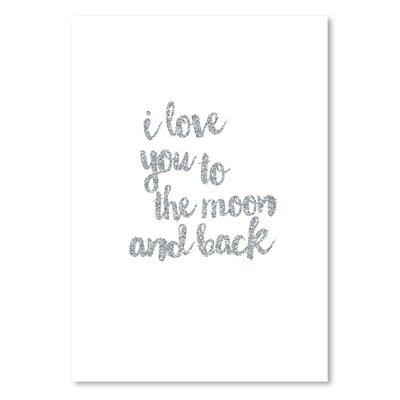 Americanflat 'I love You to the Moon and Back Typography